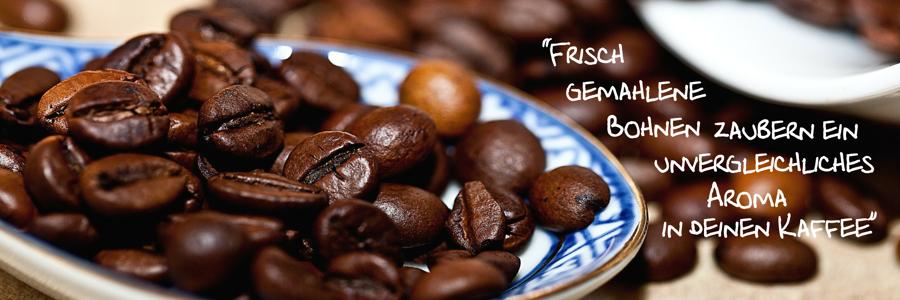 Frisch gemahlene Bohnen für Kaffeezubereiter