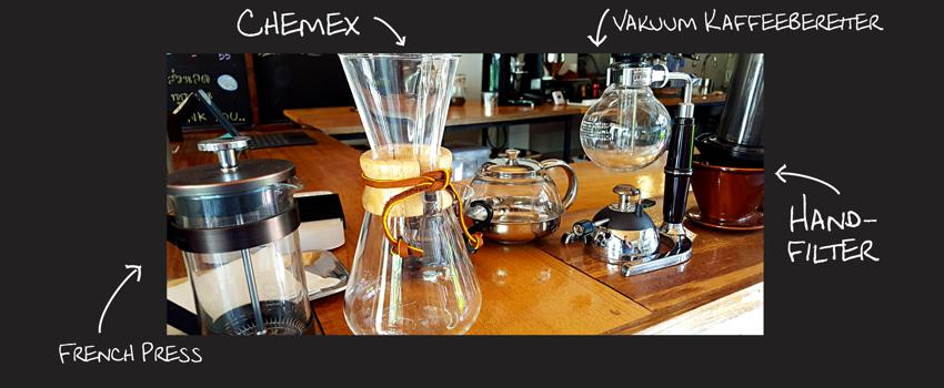 Die verschiedenen Kaffeepressen