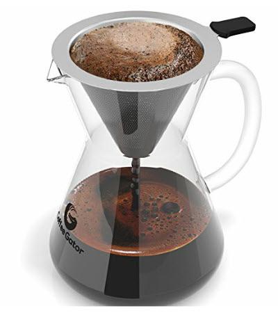 Glas Kaffeekocher